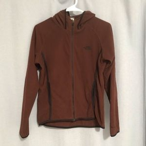 North Face Brown Lightweight Hooded Jacket